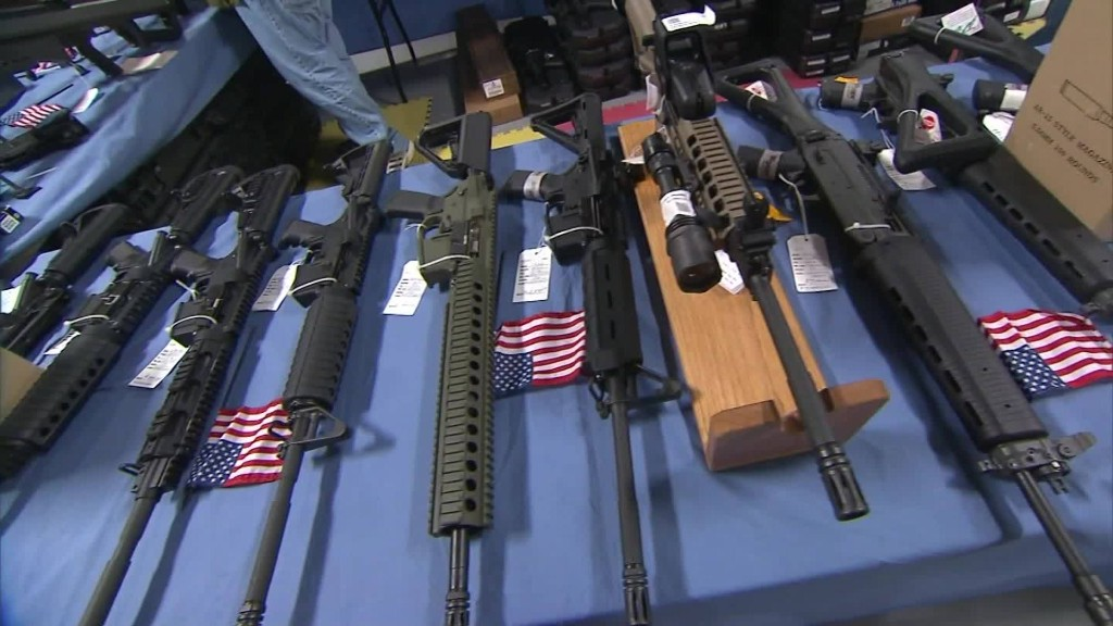 Gun stocks rise after another mass shooting