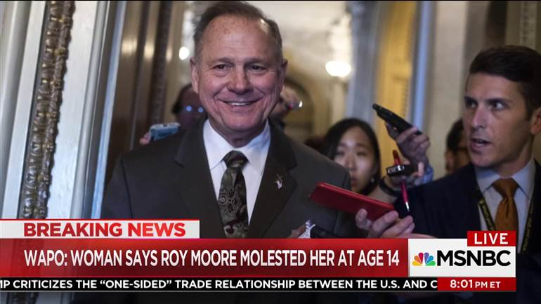 Roy Moore abandoned by RNC