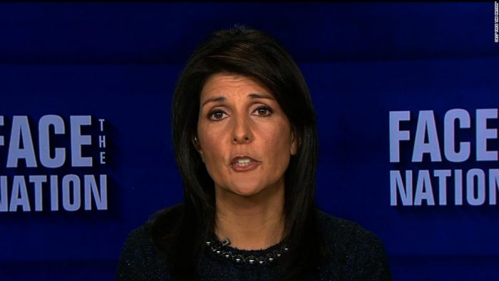 Nikki Haley on face the nation