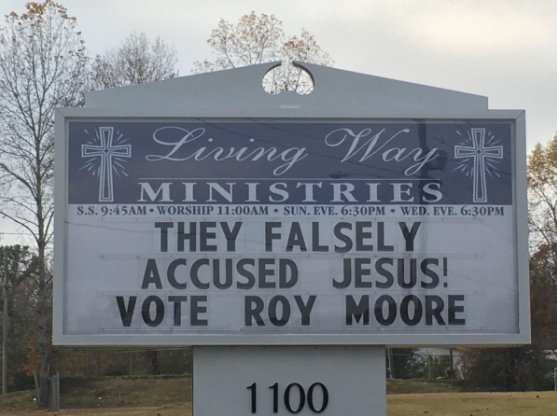 Alabama Church Sign Roy Moore